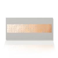 가하 자음모음C 금펄 흰색 가로형 우편봉투