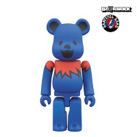 [KINKI ROBOT] 100% BEARBRICK GRATEFUL DEAD DANCING BEARS BLUE (1502034)