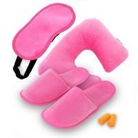 여행편의용품 6종세트 - 핑크