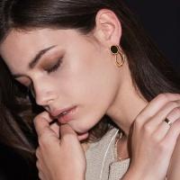 onyx ripple earring-L