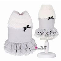 디자이너 프리티펫 벨라 드레스 코트 (그레이), 프리미엄 애견패션 브랜드