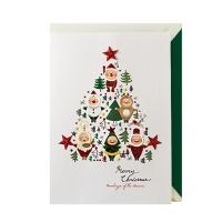 크리스마스카드/성탄절/트리/산타 트리플산타트리(FS202-2)