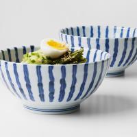 일본식기 아오센 우동기 면기