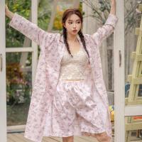 테라우드 여성용 로브 코튼 플라워 잠옷 5부 상하세트