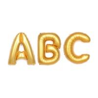 알파벳 은박풍선 (중) 골드