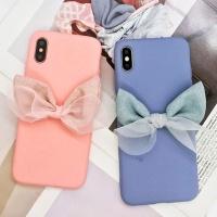 아이폰 예쁜 리본 파스텔 슬림 실리콘 휴대폰 케이스