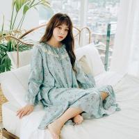 [쿠비카]플라워 모달 코튼 프릴 원피스 여성잠옷 W496