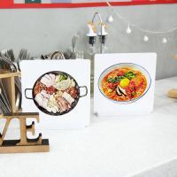 il017-스탠드액자2P_맛있는음식들2(부대찌개,라면)