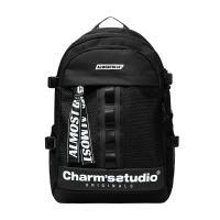 [얼모스트블루] X CHARM S BACKPACK - BLACK 백팩