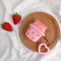 에어팟1/2 귀여운 젤리 키링세트 케이스_딸기우유 266