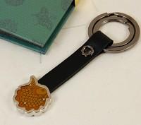 [카라빈카] 장석 가죽 물고기 열쇠고리