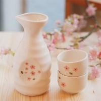 술병셋트(술병1+잔2)_벚꽃(주름)
