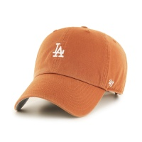 MLB모자 엘에이 다저스 버번트 오렌지 화이트미니로고