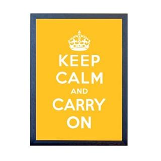 KEEP CALM 포스터 - 옐로우