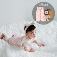 오가닉여름수면조끼세트(수면조끼+애착인형아기차차)