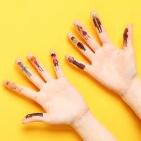 할로윈 핑거(손가락) 타투