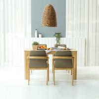 휴치 고무나무 원목 식탁 세트 4인용 의자형 A