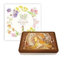 [무료배송] 들꽃 컬러링북+아르누보 50색 색연필 틴