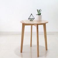 벤트리 원목 원형 사이드 테이블 (미니테이블) S