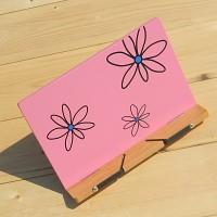꽂문양이 그려져 ART한-Woodro House 플라워 패턴 독서대 시리즈 Pink B463-3