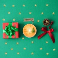 bling bling 크리스마스 메시지 틴캔들 100g(포장 + 쇼핑백 포함)