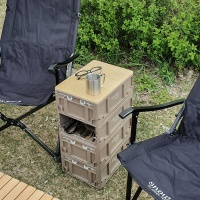 스노우아울 유틸리티 미니 폴딩박스+우드상판