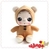 뚱(ddung) 동물 봉제인형-곰(18cm)
