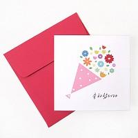 미니축하카드 - 꽃다발축하