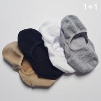 [1+1] 베이직 코튼 훼이크 삭스