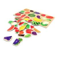 유아 자석 퍼즐 놀이 학습 교구 과일