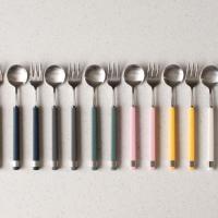 (카라 실버) 티스푼or티포크-7color(택1)