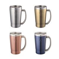 온도존 프리징 스테인 보냉컵 - 핑크 420ml (손잡이)
