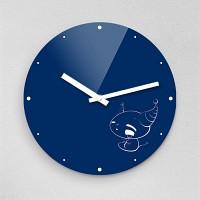 하야작가 마시멜로악마 무소음아크릴벽시계 (55324)
