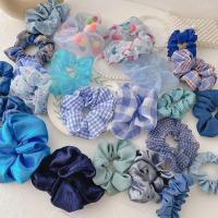 블루 여성 머리 곱창 머리끈 10개세트