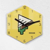 리플렉스 모던6각 멕시코 까페 무소음벽시계 MAX255YEO