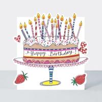 케이크와 양초 축하 카드 [CLOUD58]