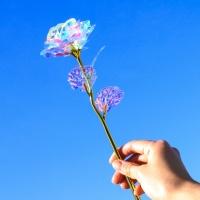 홀로그램 장미 크리스탈 꽃 기념일 선물 패키지