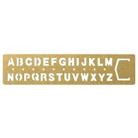 [BRASS PRODUCTS] TEMPLET BOOKMARK - alphabet