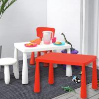 이케아 MAMMUT 어린이테이블(사각)+의자1개 세트