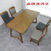 크레 고무나무 원목 4인용 식탁세트 의자형
