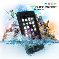 [라이프프루프] 방수케이스 액정 개방형 아이폰6 케이스 Nuud Black 77-50352