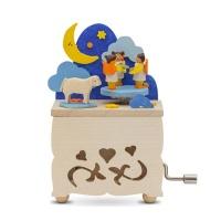 [GRAUPNER] MOON & ANGELS MUSIC BOX W/CRANK