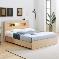 [노하우] 모코 LED 헤드수납 히든 9서랍 침대 Q