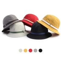 [디꾸보]바이저 스티치 배색 라인 벙거지 모자 HN644