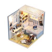 [adico]DIY 미니이처 하우스 - 블루 텍스쳐 하우스