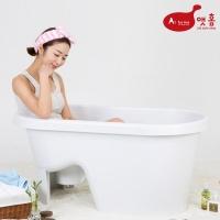 앳홈 프리미엄 이동식 의자형 반식욕조 3종세트(욕조,마개,샤워걸이)