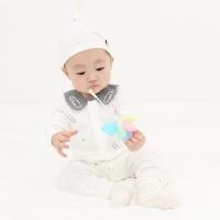 [메르베] 클립 출산선물세트(바디슈트+모자)_사계절용