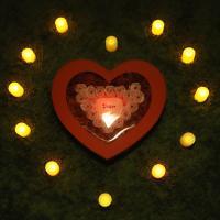 비누장미(중)+LED촛불 조명세트