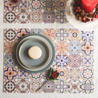 스페니쉬 패턴 방수 식탁 테이블매트 45x33cm - 5type