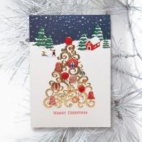 FS1030-5 크리스마스카드,트리,산타,성탄절